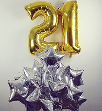 give fun_gold foil 21-balloon