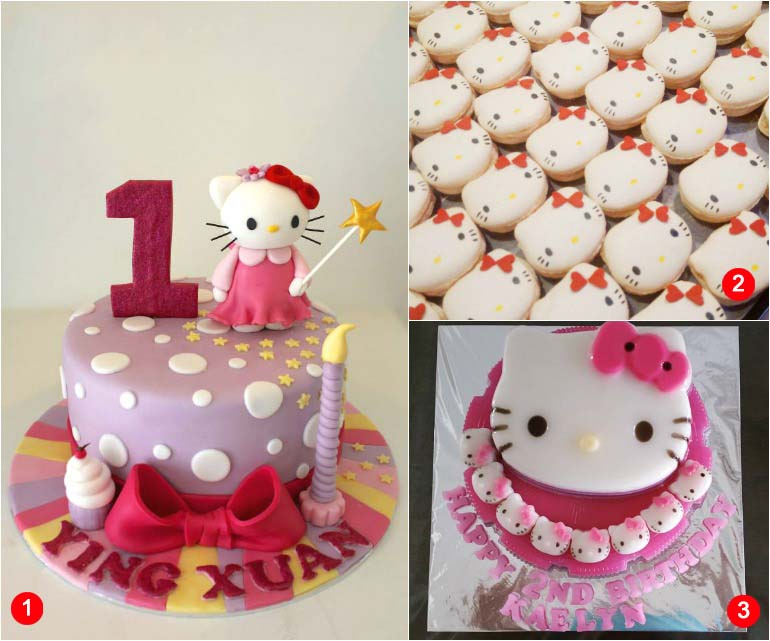 Red Ribbon Hello Kitty Birthday Cakes