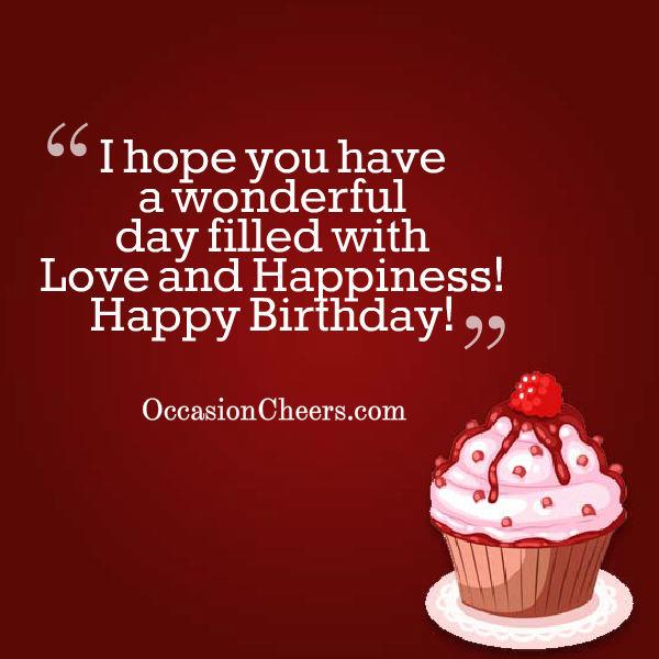 Happy Birthday Wishes Cheers