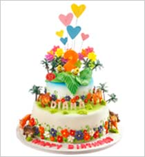 First Birthday Cake in Singapore: 3D Fondant Cakes