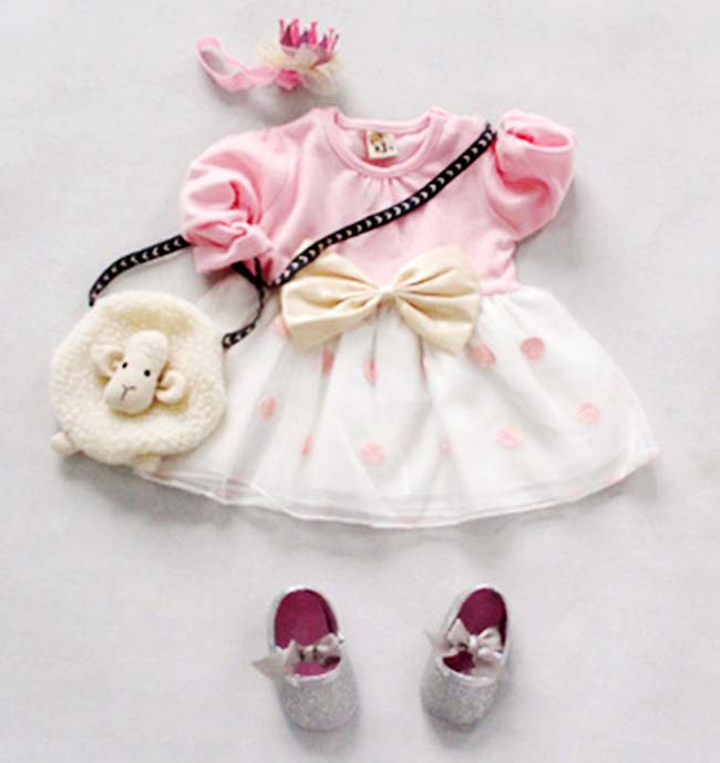 princess-dress-pink-polk-baby